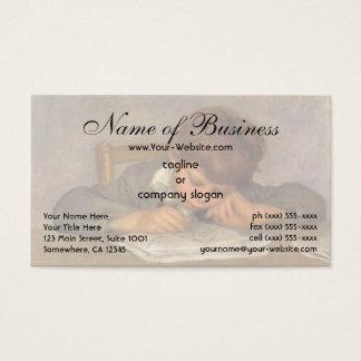 Jean Drawing by Pierre Auguste Renoir Business Card