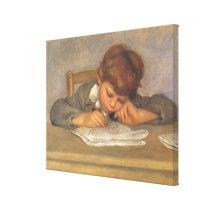 Jean Drawing by Pierre Renoir, Vintage Fine Art Canvas Print