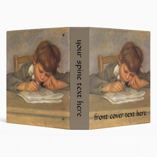 Jean Drawing by Renoir, Vintage Impressionism Art Vinyl Binders