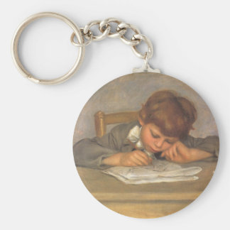 Jean Drawing by Renoir, Vintage Impressionism Art Keychain