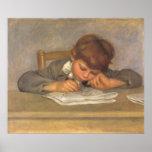 Jean Drawing by Renoir, Vintage Impressionism Art Poster