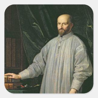 Jean Duvergier de Hauranne  Abbot of Square Sticker