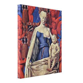 Jean Fouquet - Madonna and Child Canvas Print