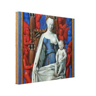 Jean Fouquet - Madonna lactans Canvas Print