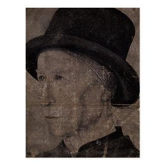 Jean Fouquet: Portrait of Man with hat Post Cards