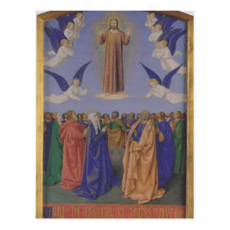Jean Fouquet- The Ascension of the Holy Spirit Post Card