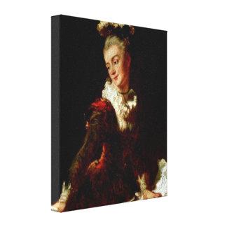 Jean Fragonard - Ballet dancer Sophie Guimard Stretched Canvas Prints