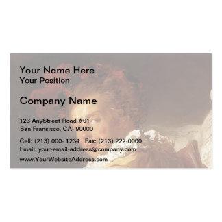 Jean Fragonard-Portrait of Monsieur de la Breteche Business Card Templates
