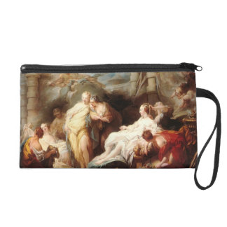 Jean Fragonard- Psyche showing her gift to sisters Wristlet Purses