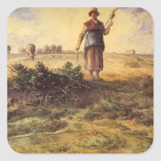 Jean-Francois Millet - A Shepherdess And Her Flock Stickers