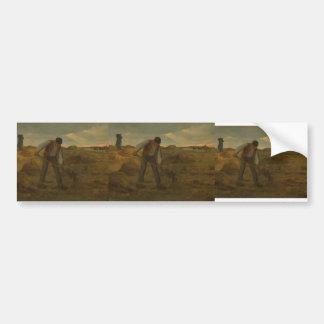 Jean-Francois Millet- Peasand spreading manure Bumper Sticker