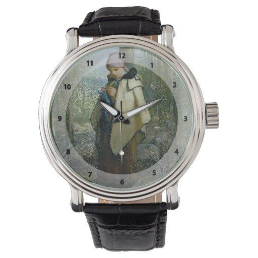 Jean-Francois Millet- The Knitting Shepherdess Wristwatch