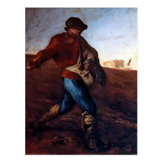 Jean-Francois Millet- The Sower Postcard