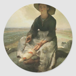 Jean-Francois Millet- The Young Shepherdess Sticker