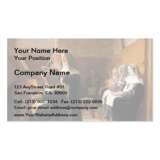 Jean Georges Vibert- The Convent Choir Double-Sided Standard Business Cards (Pack Of 100)