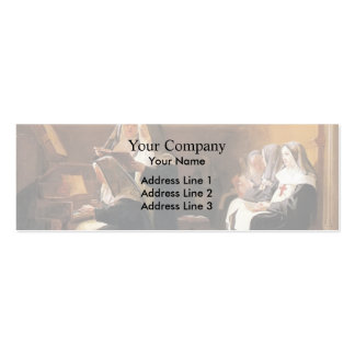 Jean Georges Vibert- The Convent Choir Double-Sided Mini Business Cards (Pack Of 20)
