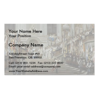 Jean Gerome- Reception of Le Condé at Versailles Double-Sided Standard Business Cards (Pack Of 100)
