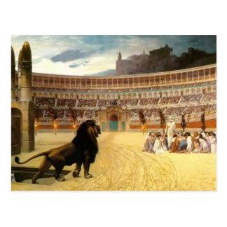 Jean Gerome- The Christian Martyr's Last Prayer Postcard