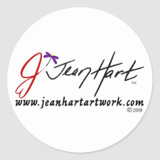 Jean Hart Artwork logo Classic Round Sticker