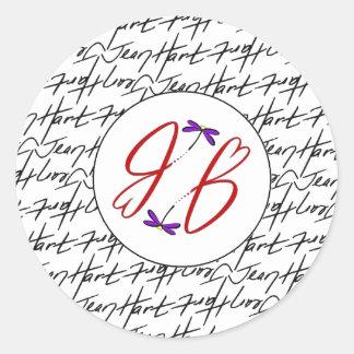 Jean Hart Artwork signature and logo Stickers