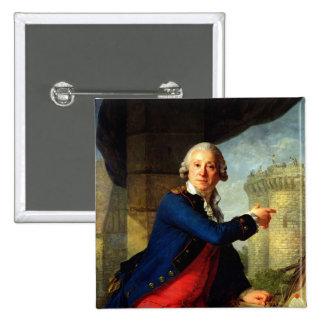 Jean-Henri  Chevalier de Latude, 1789 Pinback Button