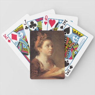Jean-Honore Fragonard- A Young Scholar Bicycle Poker Deck