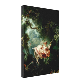 Jean-Honore Fragonard - Accidents of the Swing Canvas Print
