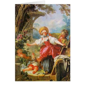 Jean-Honore Fragonard- Blind Man's Bluff Card