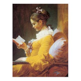 Jean-Honore Fragonard el lector Tarjeta Postal