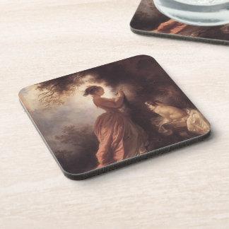 Jean-Honore Fragonard- el recuerdo Posavasos