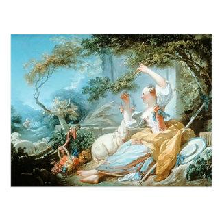 Jean-Honore Fragonard- el Shepherdess Tarjetas Postales