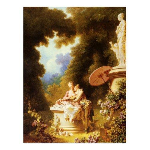 Jean_Honor Fragonard Fine Art Postcard