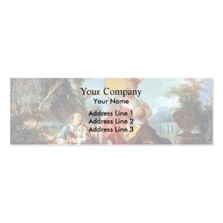 Jean-Honore Fragonard- la competencia musical Plantilla De Tarjeta De Visita
