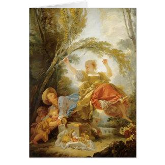 Jean-Honore Fragonard- la oscilación Tarjeta De Felicitación