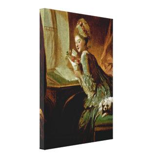 Jean-Honore Fragonard - The Love Letter Canvas Print