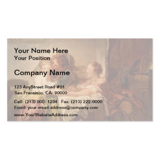 Jean-Honore Fragonard- The Prize of a Kiss Double-Sided Standard Business Cards (Pack Of 100)