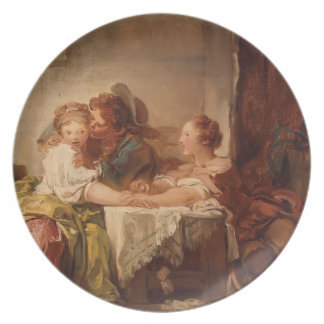Jean-Honore Fragonard- The Prize of a Kiss Plates