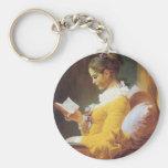 Jean-Honore Fragonard The Reader Key Chain