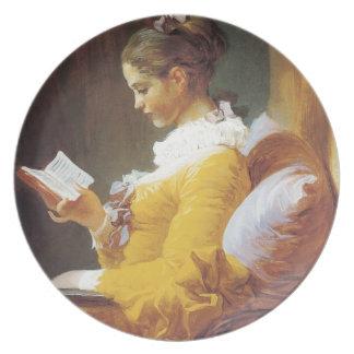 Jean-Honore Fragonard The Reader Melamine Plate