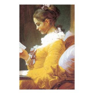 Jean-Honore Fragonard The Reader Stationery