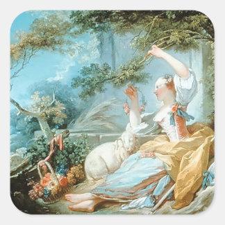 Jean-Honore Fragonard- The Shepherdess Stickers