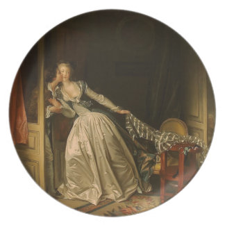 Jean-Honore Fragonard- The Stolen Kiss Party Plate