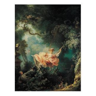 Jean-Honore Fragonard- The Swing Postcard