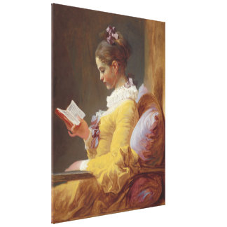 Jean-Honore Fragonard Young Girl Reading Fine Art Canvas Print