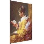 Jean-Honore Fragonard Young Girl Reading Fine Art Canvas Print
