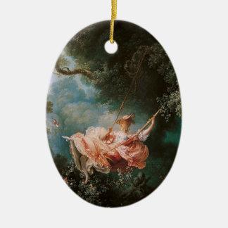 Jean-Honoré Fragonard's The Swing Ceramic Ornament