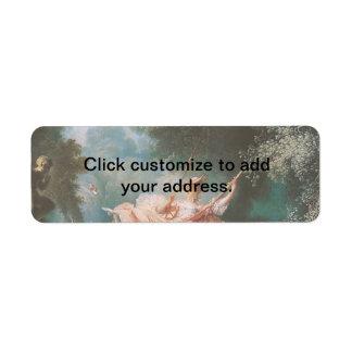 Jean-Honoré Fragonard's The Swing Custom Return Address Labels