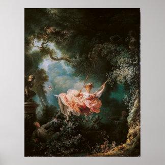Jean-Honoré Fragonard's The Swing Print