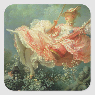 Jean-Honore Frangonard's rococo painting The Swing Square Sticker