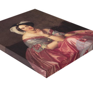 Jean Ingres- Baronesss Betty de Rothschild Gallery Wrapped Canvas